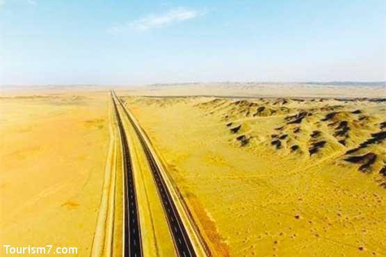 طولانیترین بزرگراه بیابانی جهان+عکس